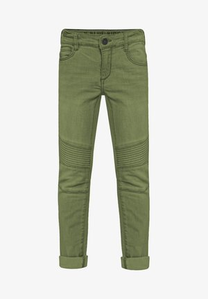 MIT BIKER-DETAILS - Jeans Skinny Fit - army green