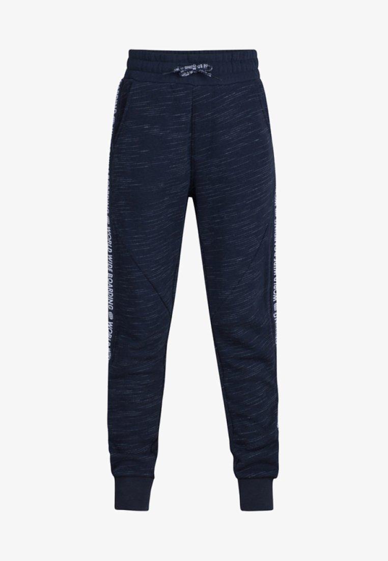 WE Fashion - JONGENS WORLD PRINT - Pantalon de survêtement - navy blue