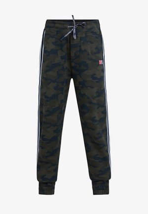 REGULAR FIT - Pantalones deportivos - army green