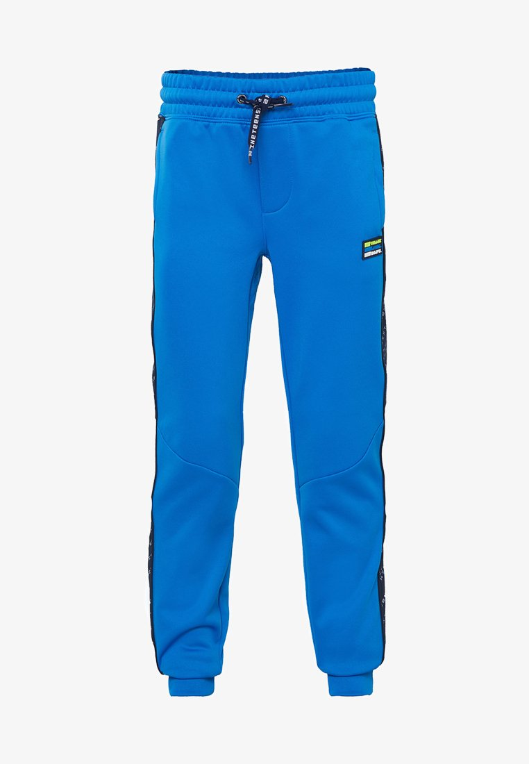 WE Fashion - MET TAPEDETAIL - Pantalones deportivos - bright blue