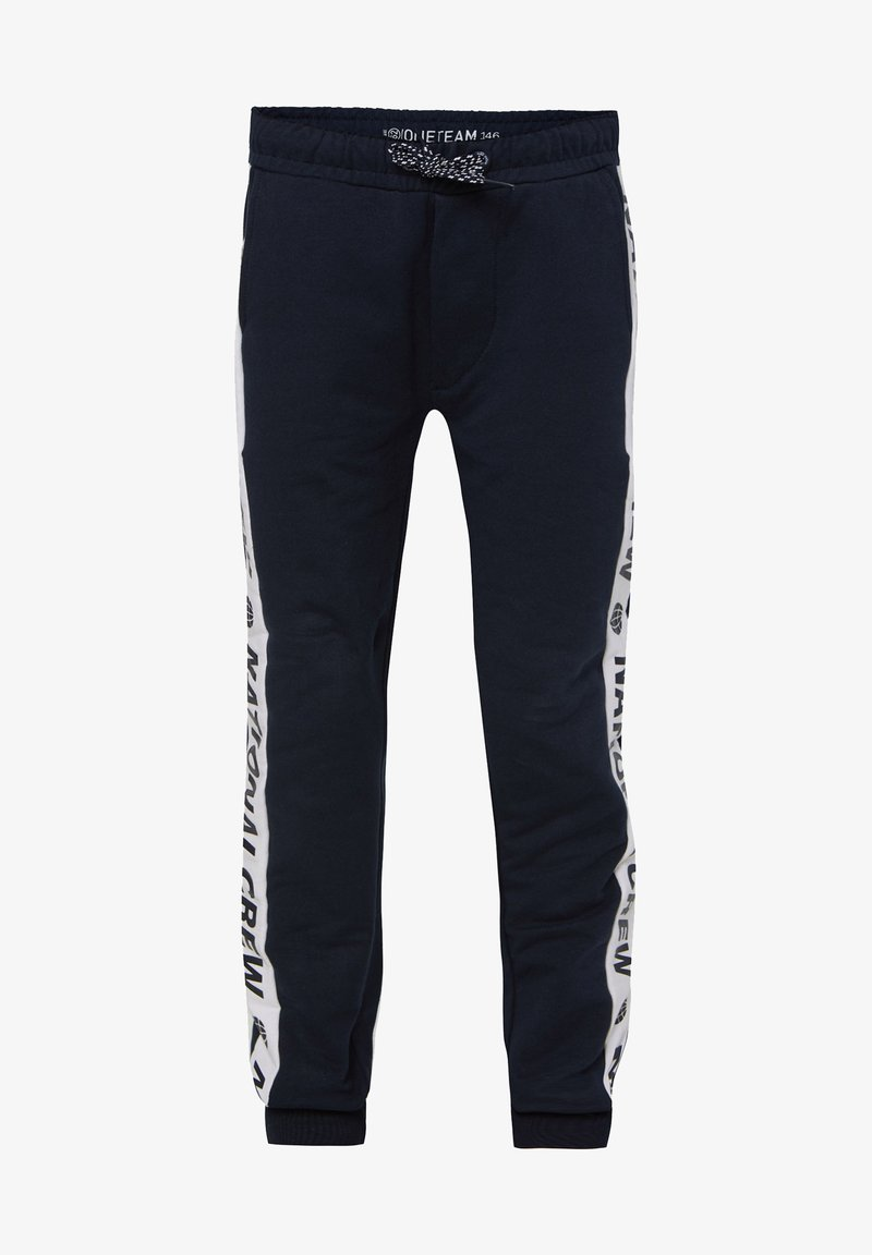 WE Fashion - MET TAPEDETAIL - Tracksuit bottoms - blue