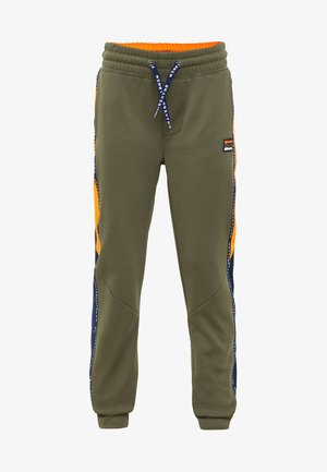MET TAPEDETAIL - Tracksuit bottoms - army green