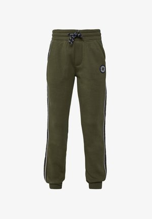WE FASHION JONGENS JOGGINGBROEK MET TAPEDETAIL - Pantalones deportivos - army green