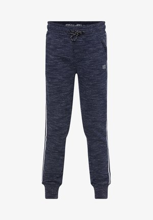 WE FASHION JONGENS JOGGINGBROEK MET TAPEDETAIL - Pantalones deportivos - dark blue
