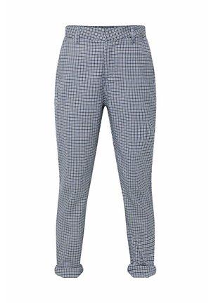 WE FASHION JONGENS SKINNY FIT GERUITE PANTALON - Trousers - blue