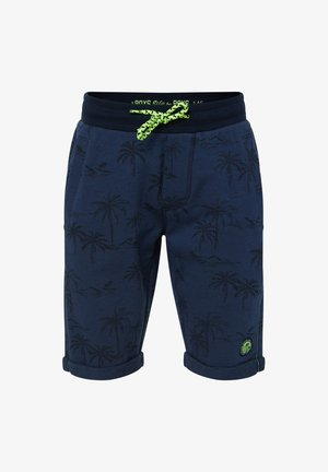 WE FASHION JONGENS SHORT VAN SWEATSTOF MET DESSIN - Shorts - dark blue