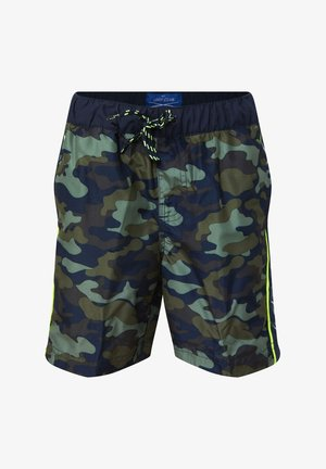 WE FASHION JUNGEN-BADESHORTS MIT DETAIL, LANG - Uimashortsit - black
