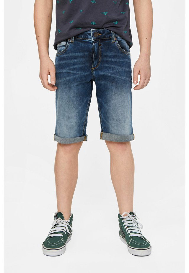 WE FASHION JUNGEN-REGULAR-FIT-JEANSSHORTS - Denim shorts - blue