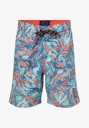 WE FASHION JUNGEN-BADEHOSE MIT MUSTER - Zwemshorts - light blue