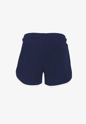 MIT SCHRIFTZUG - Shorts - dark blue
