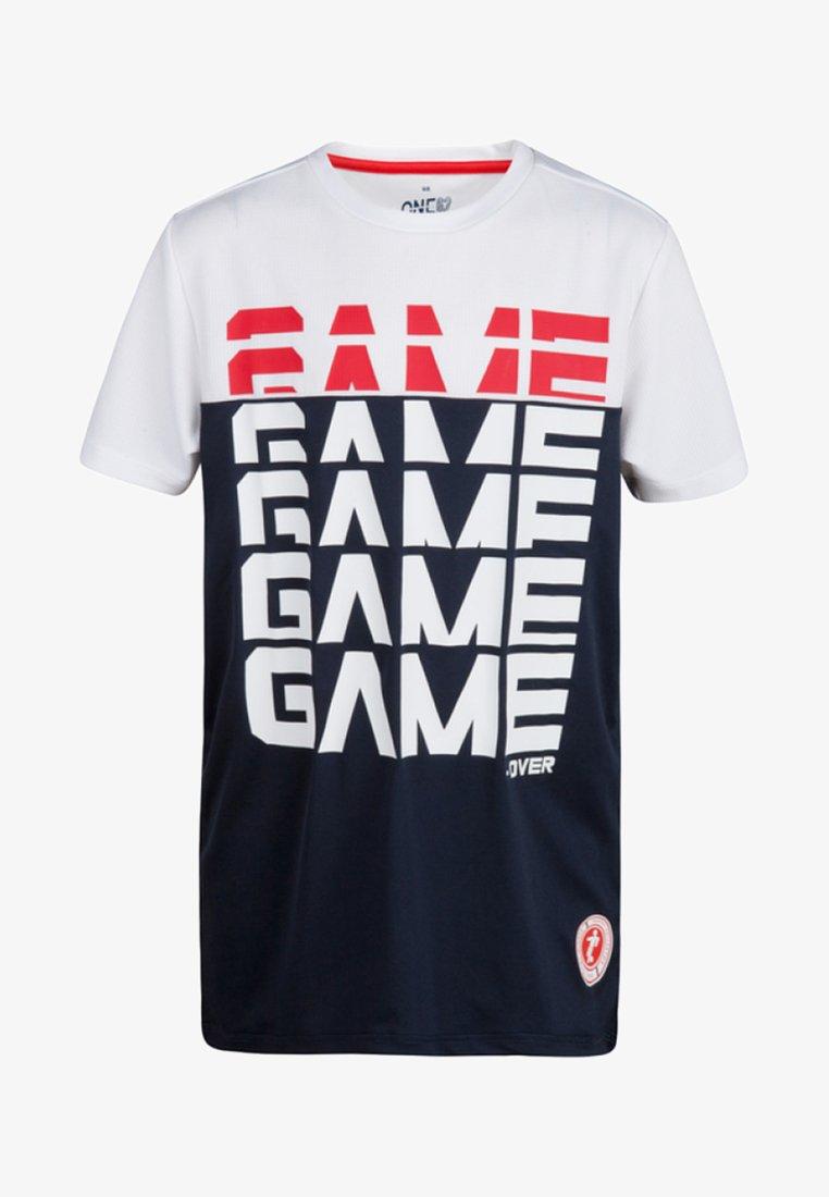 WE Fashion - T-shirt imprimé - dark blue