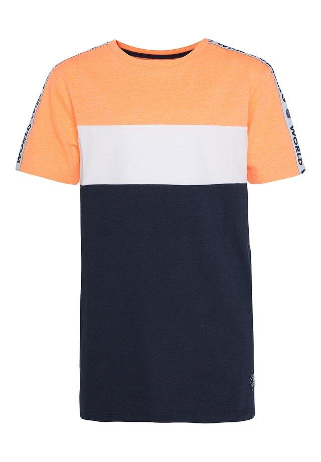 T-shirt print - bright orange