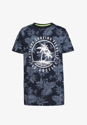 WE FASHION JUNGEN-T-SHIRT MIT MUSTER UND AUFDRUCK - T-shirt print - all-over print