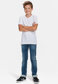 WE Fashion - WE FASHION JONGENS BASIC T-SHIRT, 2-PACK - Basic T-shirt - white - 1