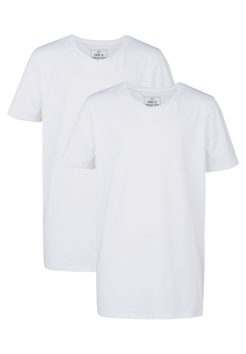 WE Fashion - WE FASHION JONGENS BASIC T-SHIRT, 2-PACK - Basic T-shirt - white