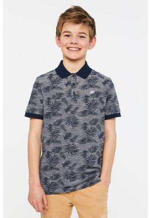 WE FASHION JUNGEN-PIQUÉ-POLOSHIRT MIT MUSTER - Polo shirt - dark blue