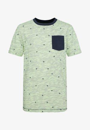 T-shirt print - green\ blue