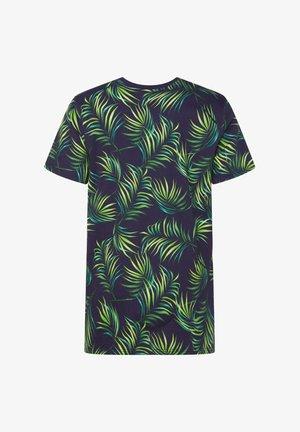 WE FASHION JONGENS T-SHIRT MET BLADERENDESSIN - T-shirt print - all-over print