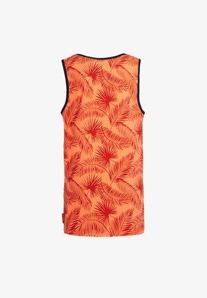 MET TEKSTOPDRUK - Top - bright orange
