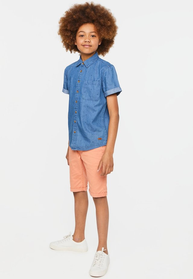 WE FASHION JUNGEN-JEANSHEMD MIT MUSTER - Shirt - blue