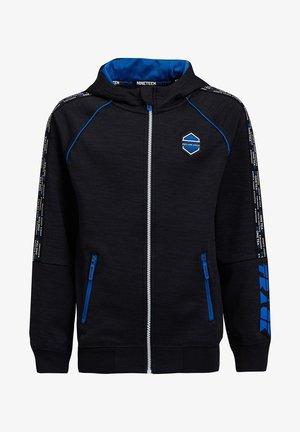 MET CAPUCHON EN TAPEDETAIL - Zip-up hoodie - blue