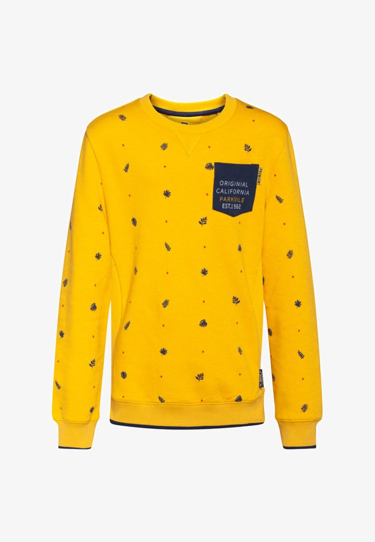 WE Fashion - JONGENS BLADERENDESSIN - Sweatshirt - ochre yellow