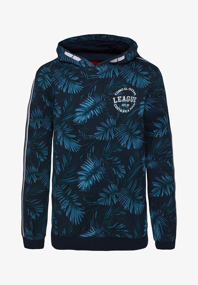 WE Fashion - MIT BLÄTTERMUSTER - Hoodie - royal blue
