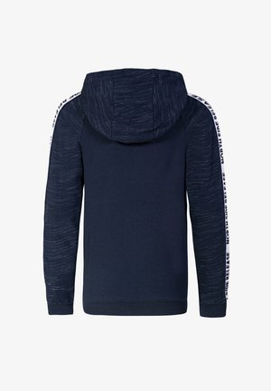JONGENS MET CAPUCHON EN TAPEDETAIL - Zip-up hoodie - dark blue