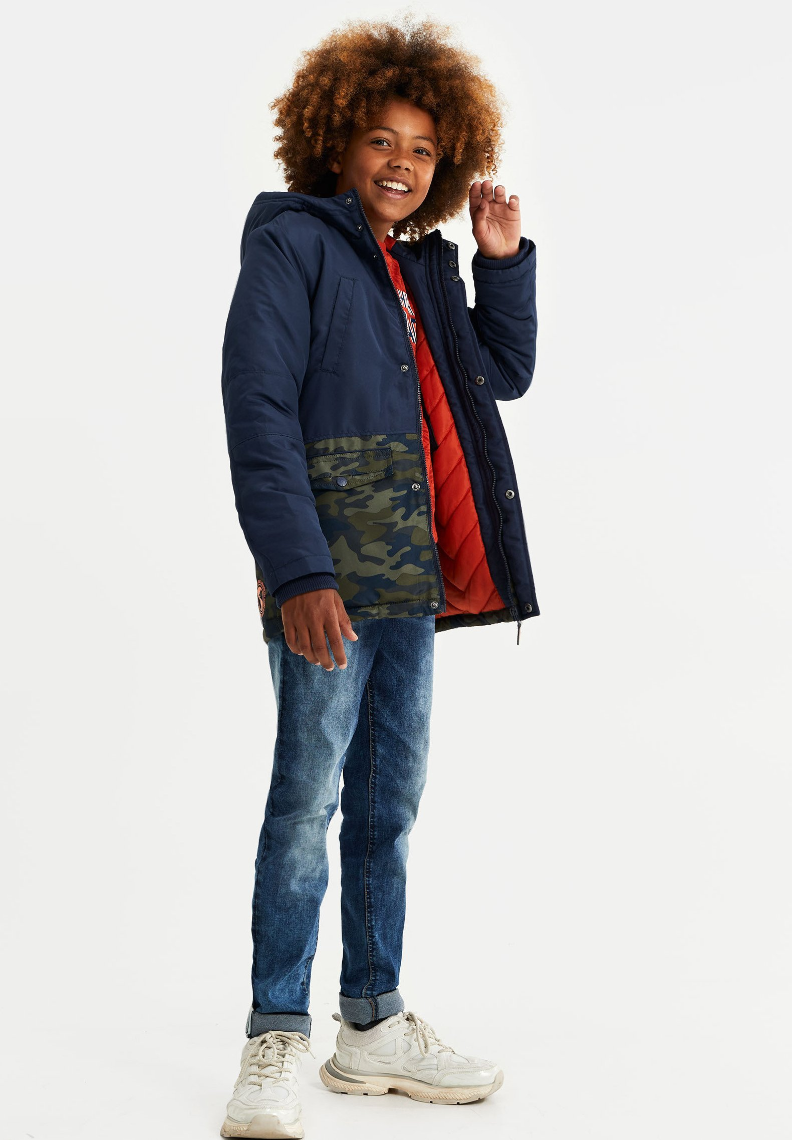 WE Fashion REVERSIBLE JAS Winterjas blue Zalando.nl