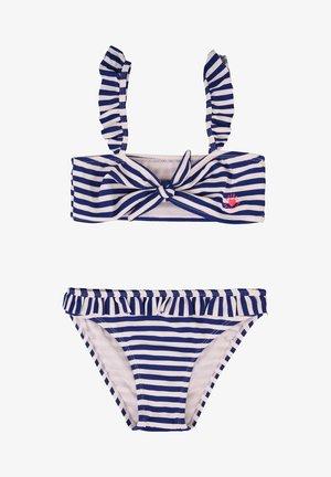 MIT STREIFEN- UND STRUKTURMUSTER - Bikini - blue