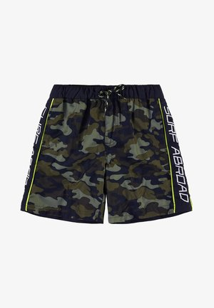 WE FASHION JONGENS ZWEMBROEK VAN GERECYCLED MATERIAAL - Swimming shorts - army green