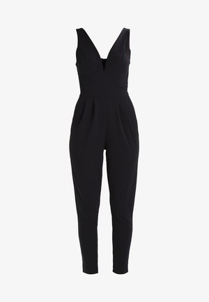 SLEEVELESS PLUNGE  - Jumpsuit - black