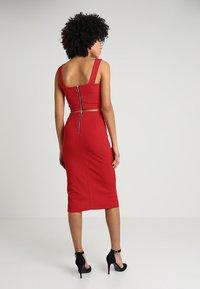 WAL G. - SET - Pencil skirt - red - 2