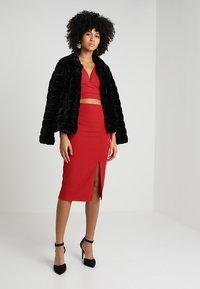 WAL G. - SET - Pencil skirt - red - 1