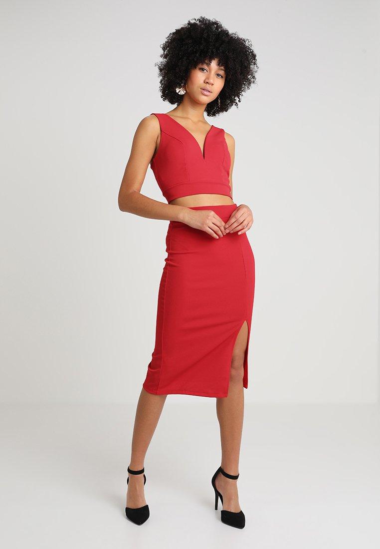 WAL G. - SET - Pencil skirt - red