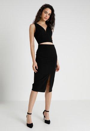 SET - Pouzdrová sukně - black