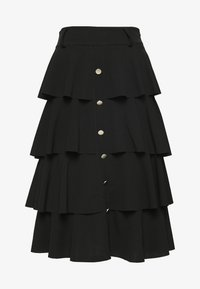 WAL G. - FRILL LAYERED SKIRT - A-line skjørt - black - 0