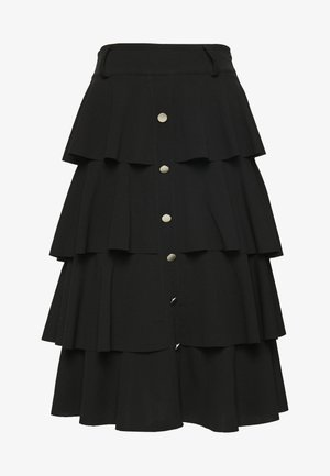 FRILL LAYERED SKIRT - A-line skjørt - black