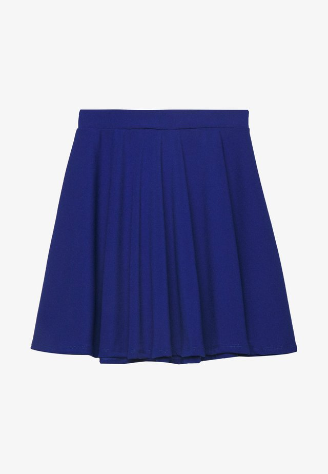SKATER SKIRT - A-linjainen hame - electric blue