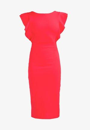 FLUTTER SLEEVE FITTED DRESS  - Sukienka etui - red