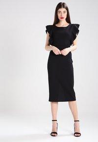 WAL G. - FLUTTER SLEEVE FITTED DRESS  - Shift dress - black - 0