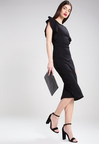 WAL G. - FLUTTER SLEEVE FITTED DRESS  - Shift dress - black - 2