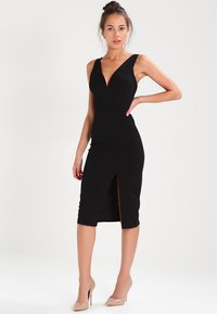 WAL G. - V NECK MIDI  - Shift dress - black - 0