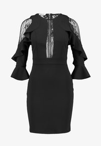 WAL G. - RUFFLE SLEEVE INSERT MINI - Cocktail dress / Party dress - black - 4