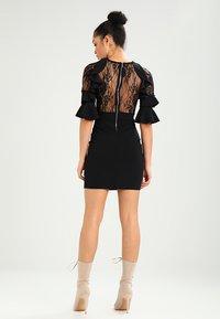 WAL G. - RUFFLE SLEEVE INSERT MINI - Cocktail dress / Party dress - black - 2