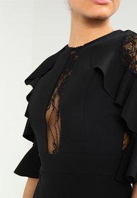 WAL G. - RUFFLE SLEEVE INSERT MINI - Cocktail dress / Party dress - black - 3