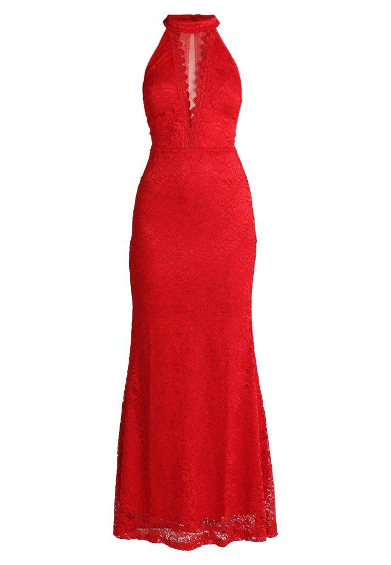 Wal G. High Neck Maxi - Robe De Cocktail Red