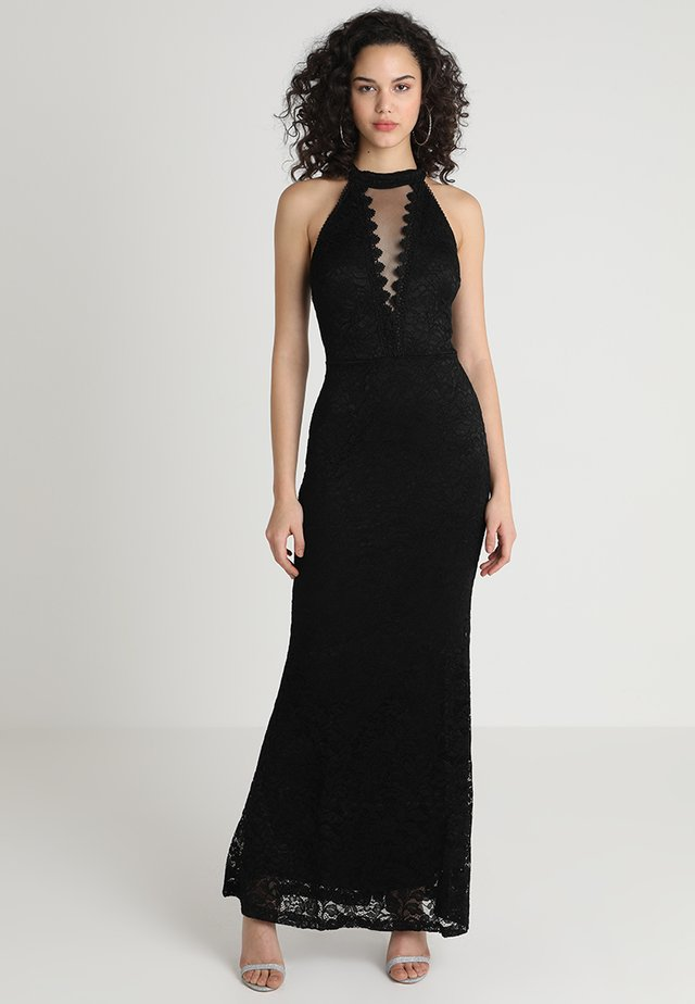 HIGH NECK MAXI - Occasion wear - black
