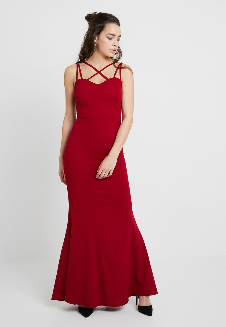 WAL G. - LONG CAMI DRESS - Occasion wear - burgundy