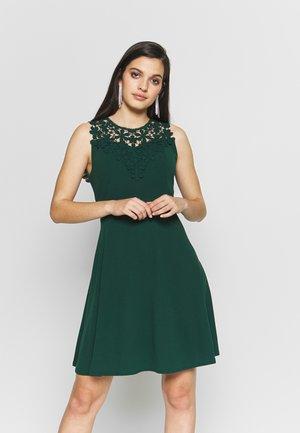 BUST SKATER DRESS - Day dress - forest green